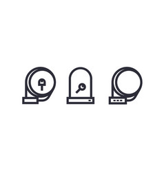 Bike locks icons on white vector