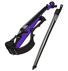 Blue electric violin vector