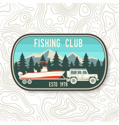 boating and sport fishing club patch vector image
