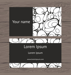 Business card with abstract texture vector
