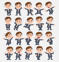 cartoon character businessman set with different vector image