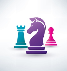 Chess piecies icons vector