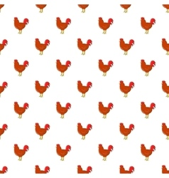 Chicken pattern cartoon style vector image
