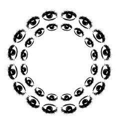 circular pattern of the eye vector image