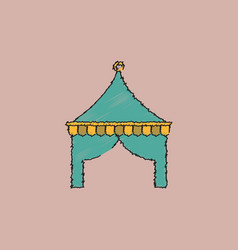 Circus tent in hatching style vector