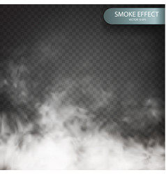 Cloud effect on a transparent background vector