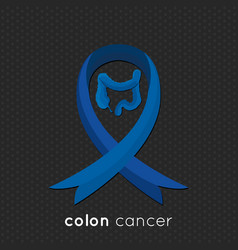 colon cancer ribbon design vector image