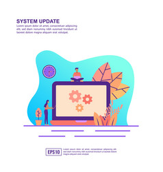 concept system update modern conceptual for vector image