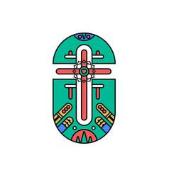 Cross lord and savior jesus vector