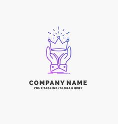 Crown honor king market royal purple business vector