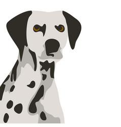 Dalmatian dog simple vector