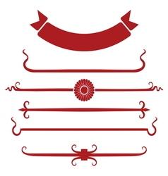 decorative border1 vector image