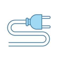 electric plug color icon vector image