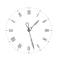 elegant clock face vector image