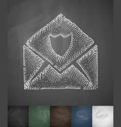 Envelope antivirus icon hand drawn vector