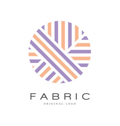 fabric original logo template creative sign for vector image