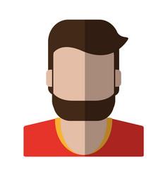 Faceless man with beard icon image vector