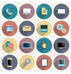 Flat Icons for web and mobile applications objects vector image
