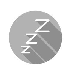 Flat modern round sleep icon vector
