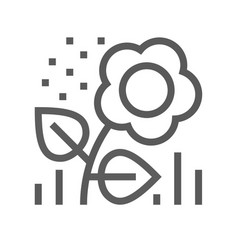 Flower pollen line icon vector