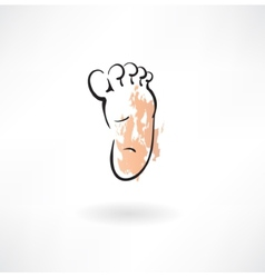 Foot grunge icon vector