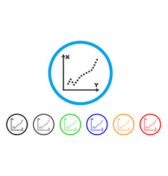 function plot rounded icon vector image