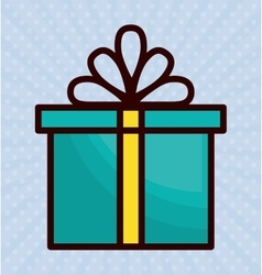 Gift box with bow icon image vector