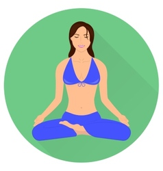 Girl in Yoga Pose - Lotus vector image