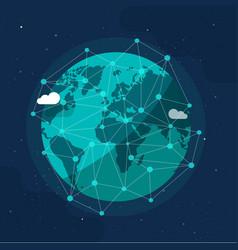Global communication future technology business vector