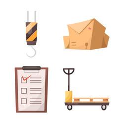 Goods and cargo logo set vector