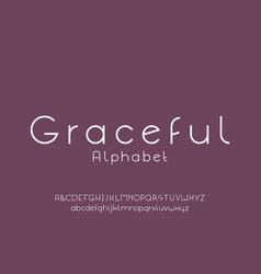 Graceful font alphabet vector