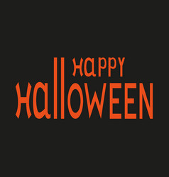 happy halloween text logo vector image