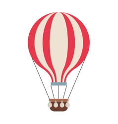 hot air balloon adventure fly travel vector image
