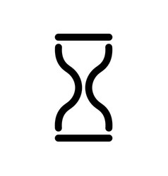 hourglass icon symbol of time history and vector image