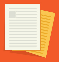 Icon of documents vector