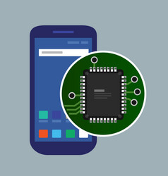 Internal phone device circuit board a vector