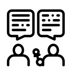 Interview discuss icon outline vector