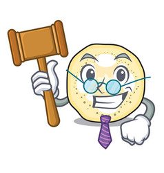 Judge eggplant slices in a mascot bowl vector