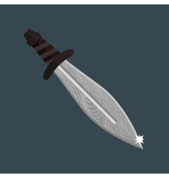 Knife dagger weapon vector image