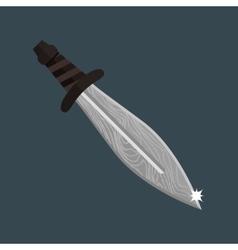 Knife dagger weapon vector