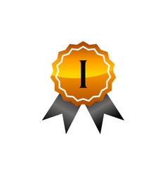 Logo quality letter i vector