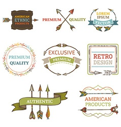 Logo templates with arrows vector