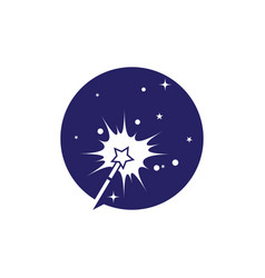 magic icon vector image
