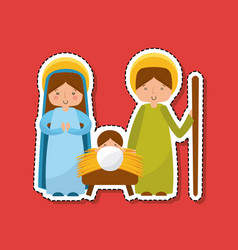 Manger characters isolated icon vector
