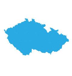 map of czech republic high detailed map - czech vector image