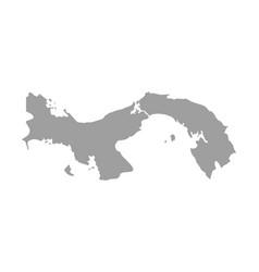 map panama isolated black on white background vector image