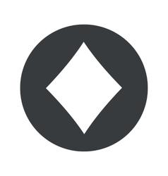 Monochrome round diamonds icon vector