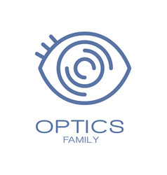 Optics family logo symbol hand drawn vector