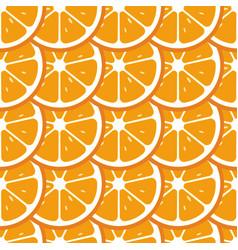 orange slices seamless pattern flat food texture vector image