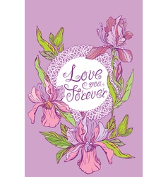 Orchid card 380 vector